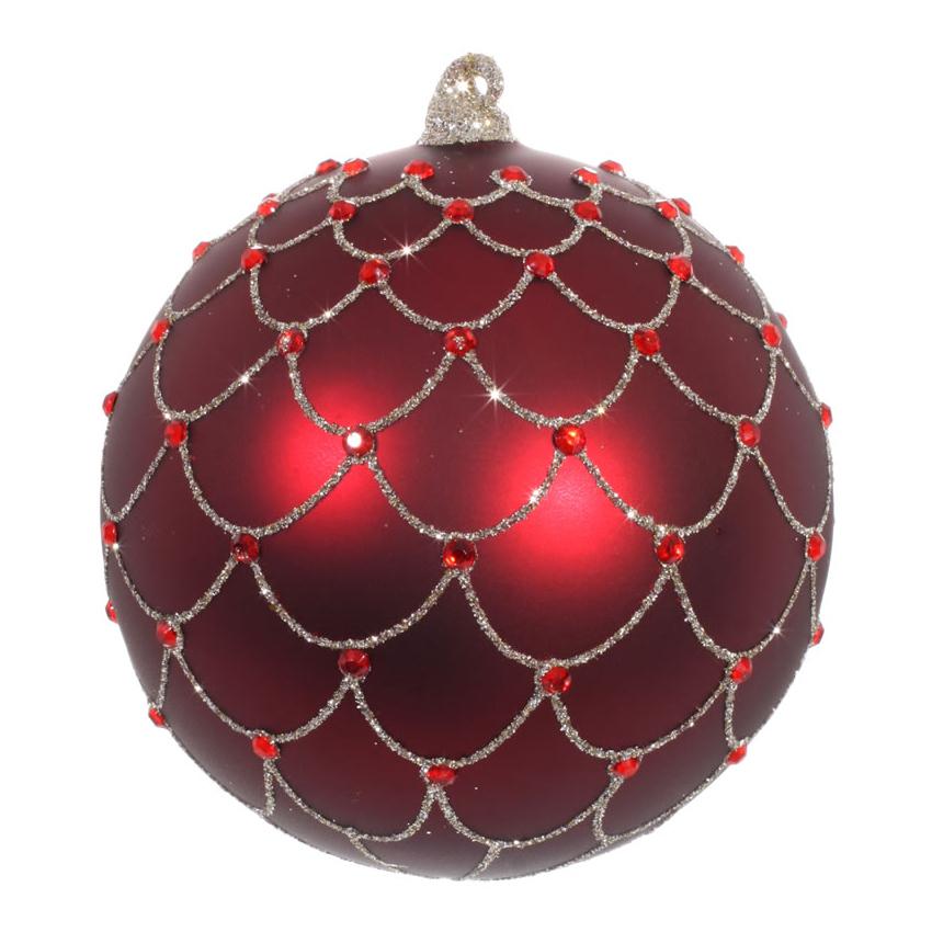 Красные шары для декора