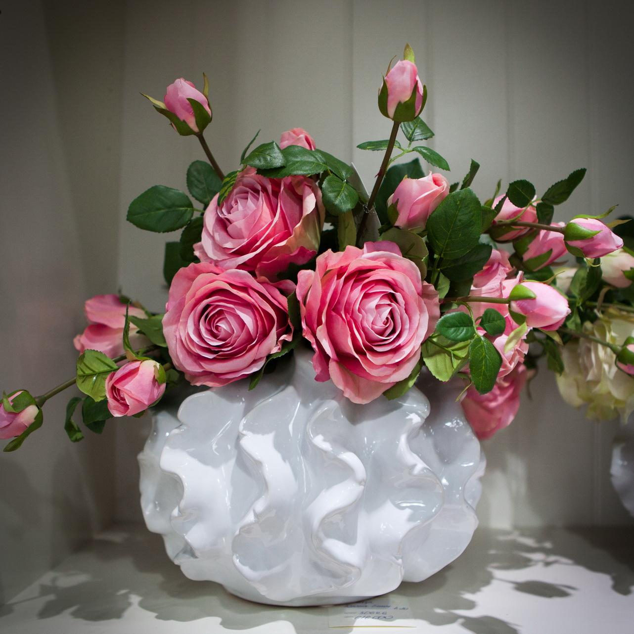 Как самому сделать вазу для искусственных цветов